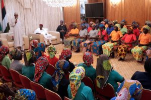 pres-buhari-with-chibok-girls-may-17