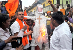 Effigy of archbishop burned