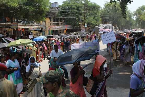 Protest march in Jharkhand