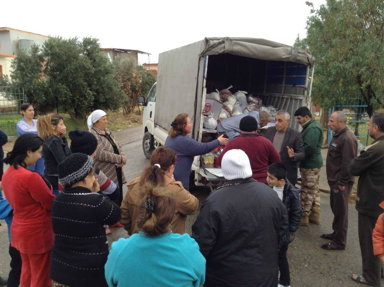 Christmas Blessing aid distribution