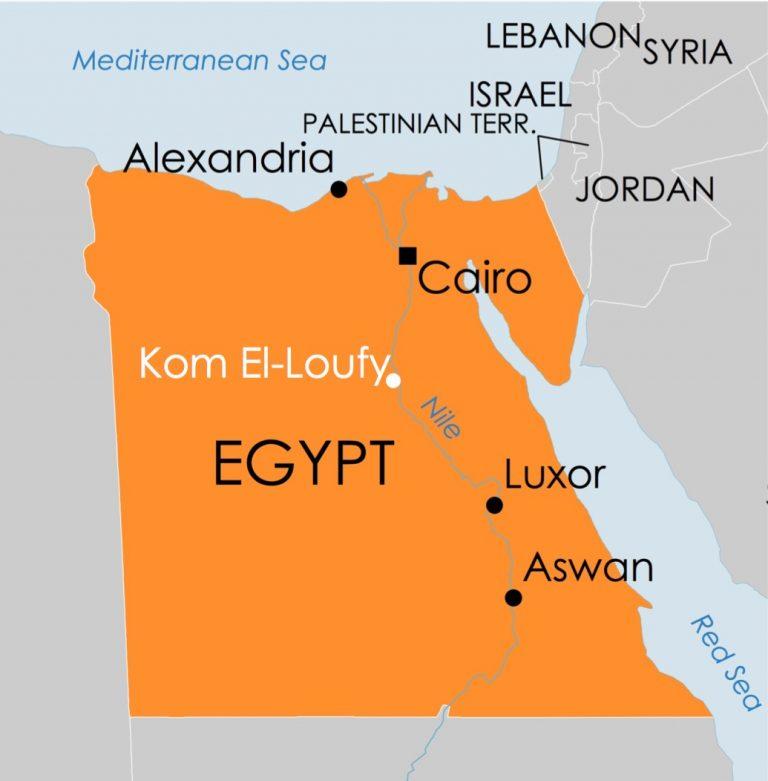 Egypt map with Kom El-Loufy