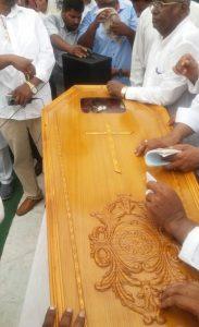Pastor Sultan Masih's coffin