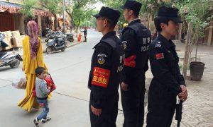 Police patrol in Kashgar