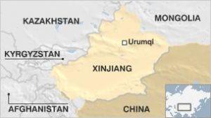 Xinjiang map