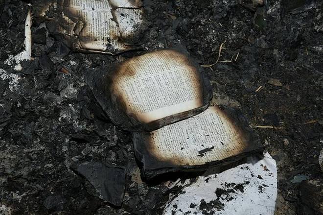 Burned Bibles in Tamil Nadu