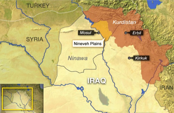 Nineveh Plains map