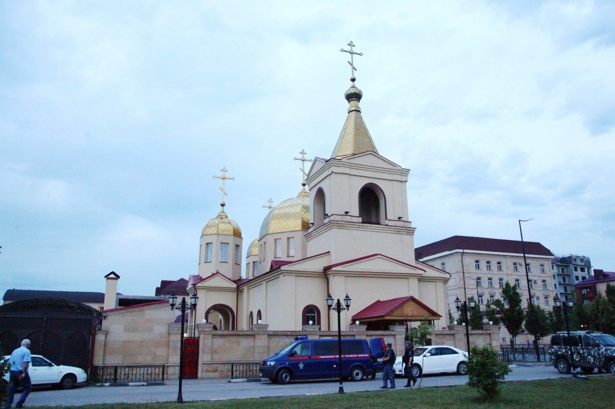 RUSSIA: Churchgoer and two police guards killed in attack on Chechen church