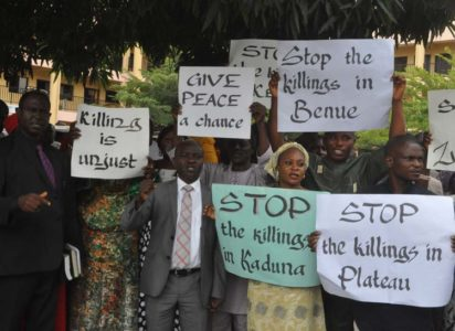 Nigerian Christians protest