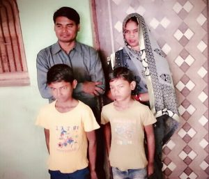 Pastor Sone Lal and family