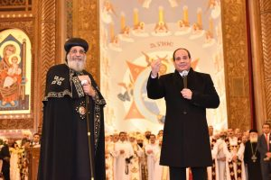 President Sisi opening new cathedral