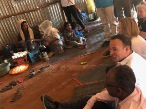 Leo Varadkar at Ethiopia refugee camp