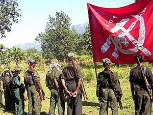 Naxalites with flag