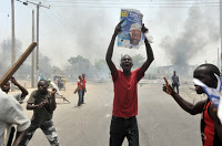 Riots in April 2011 after Buhari's loss