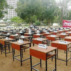 Chibok anniversary desks in Lagos