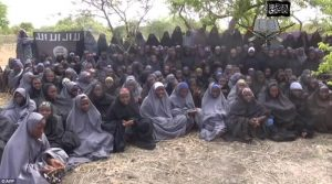 Chibok girls in hijabs