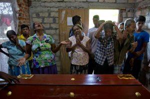 Coffin of 12-year old Sneha Savindi (Negombo)