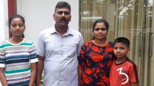 Ramesh Raju with family