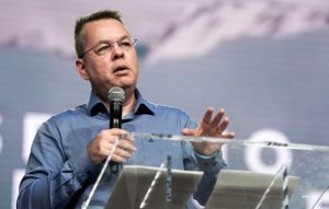 Andrew Brunson addressing Southern Baptist Convention