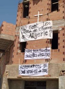Algeria church banners