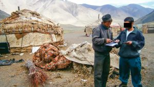 Christian distributes literature in Central-Asia