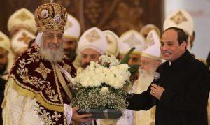 Pope Tawadros ll and President Sisi