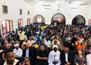 Sudanese officials attend Christmas Day service