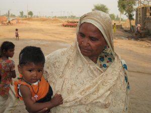 Christian woman and child (Pakistan)
