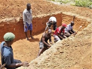 Digging mass grave in Kaduna State