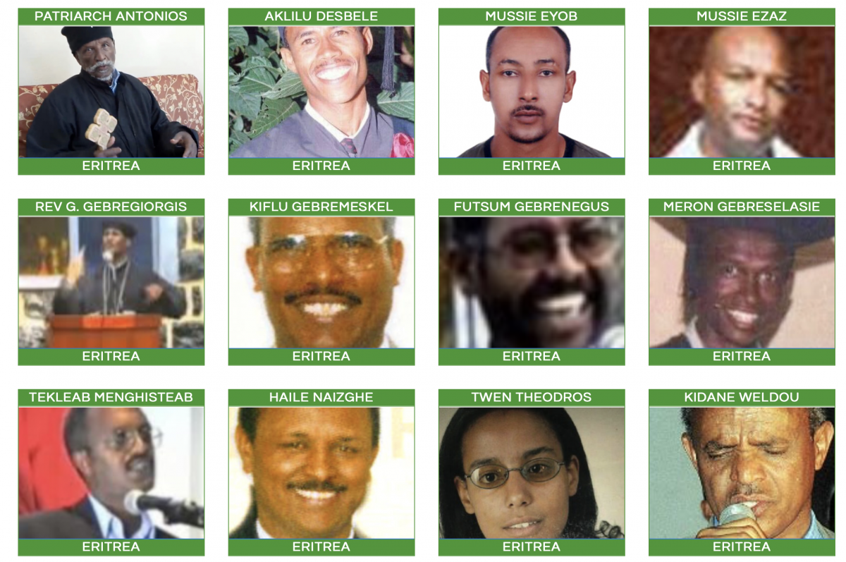 Grid of Eritrean Prisoners