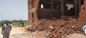 Koum al-Farag church destroyed