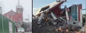 Bethel Church before and after demolition