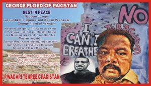 George Floyd of Pakistan banner