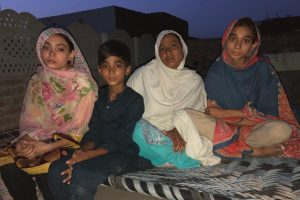 Mother and siblings of Maria Shahbaz