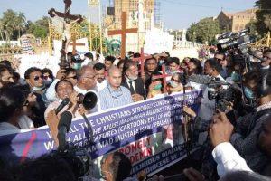 Protestors in Karachi