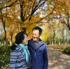 Jin Tianming and his wife