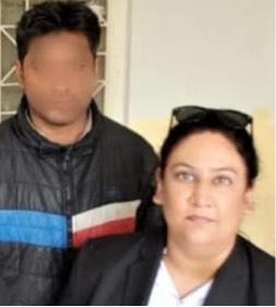 Haroon Ayub Masih and lawyer Aneeqa Maria