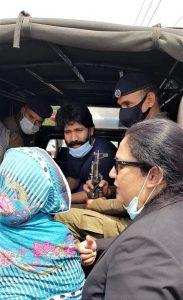 Salamat Mansha Masih with his mother and lawyer