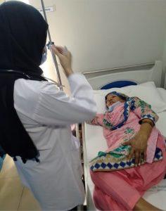 Nawab Bibi in hospital