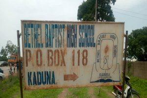 Bethel Baptist High School sign