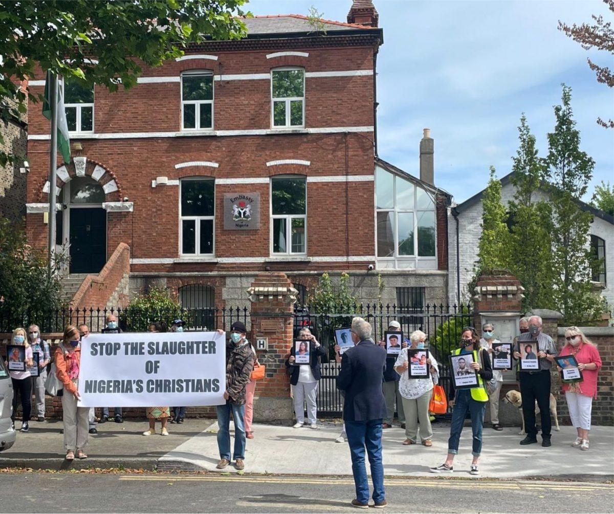 NIGERIA: Silent Vigil at Nigerian Embassy, Dublin