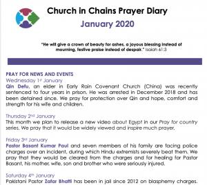 Prayer Diary Page 1