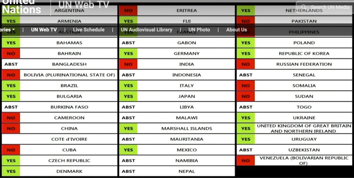 UN Resolution on Eritrea