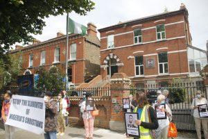 Group outside Embassy