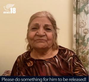 Naser's mother video appeal