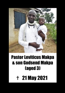 Placard - Pastor Leviticus and son