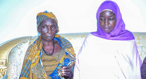 Ruth Ngladar Pagu with her mother