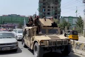 Taliban patrolling Kabul (Aug 21)