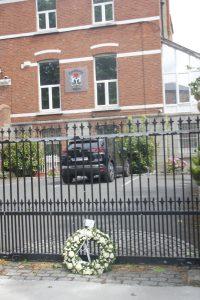 Wreath outside Embassy